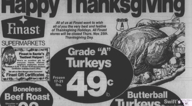 Retro Thanksgiving shopper