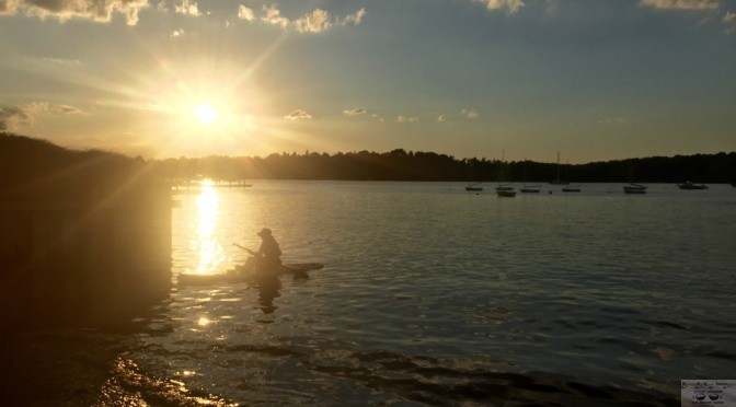 Scene Around: Rowing the Boat Ashore at Sunset