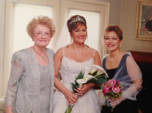 I have no doubt that my Mom's prayers played a big part in May 2, 2003 ever happening.  Doesn't she make a glamorous Mother of the Bride?