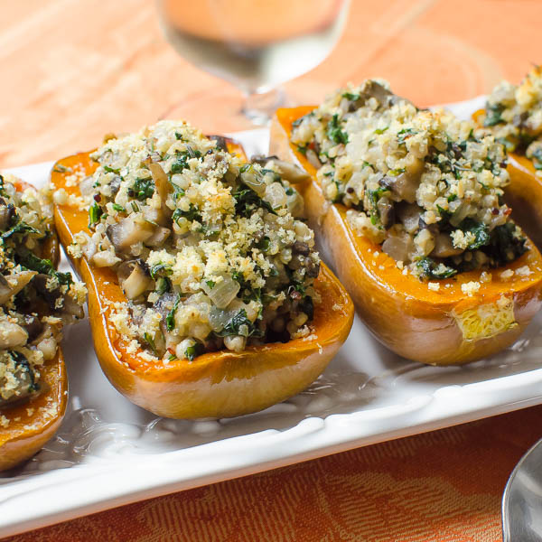 Stuffed Honeynut Squash - Thanksgiving Sides
