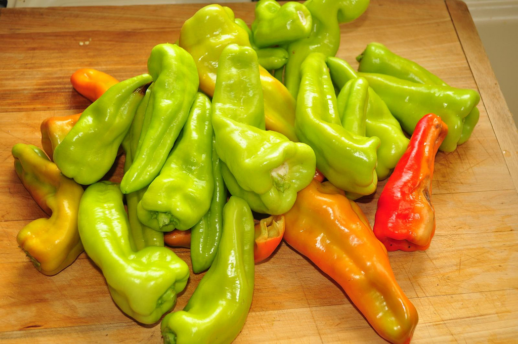 The banana pepper is shaped like, well, a banana. It's mild flavor is good for frying.