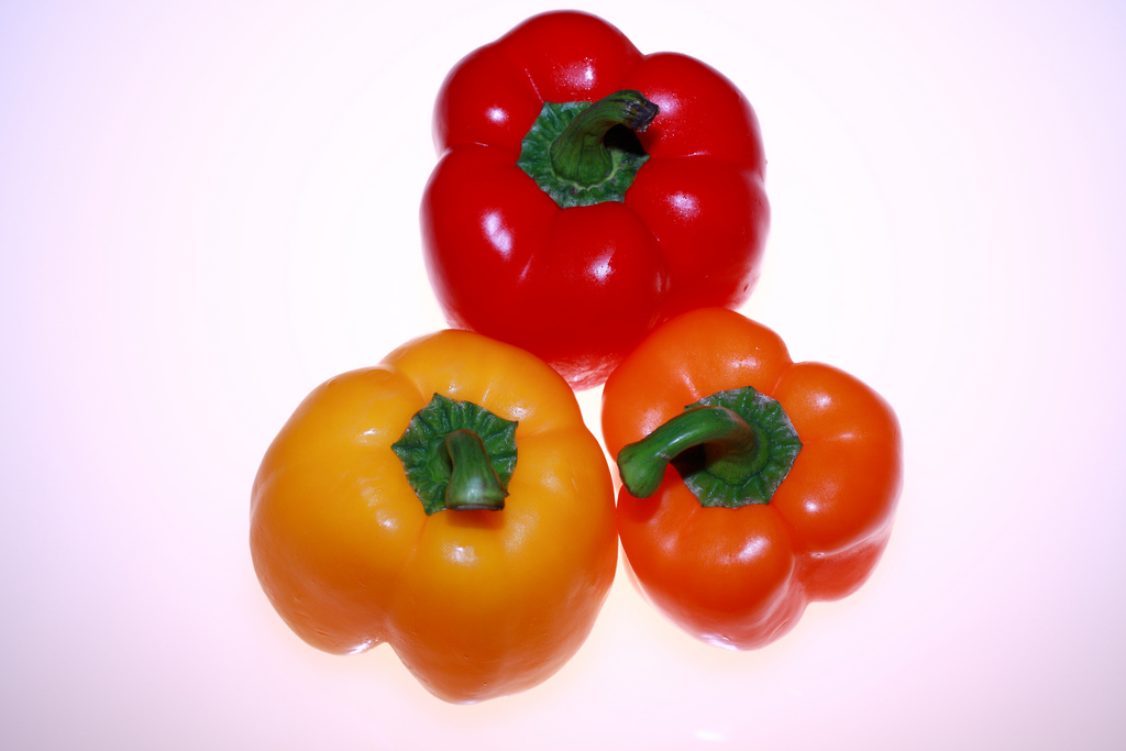 Probably the most common peppers, bell peppers begin green then turn into a rainbow of colors as they ripen.