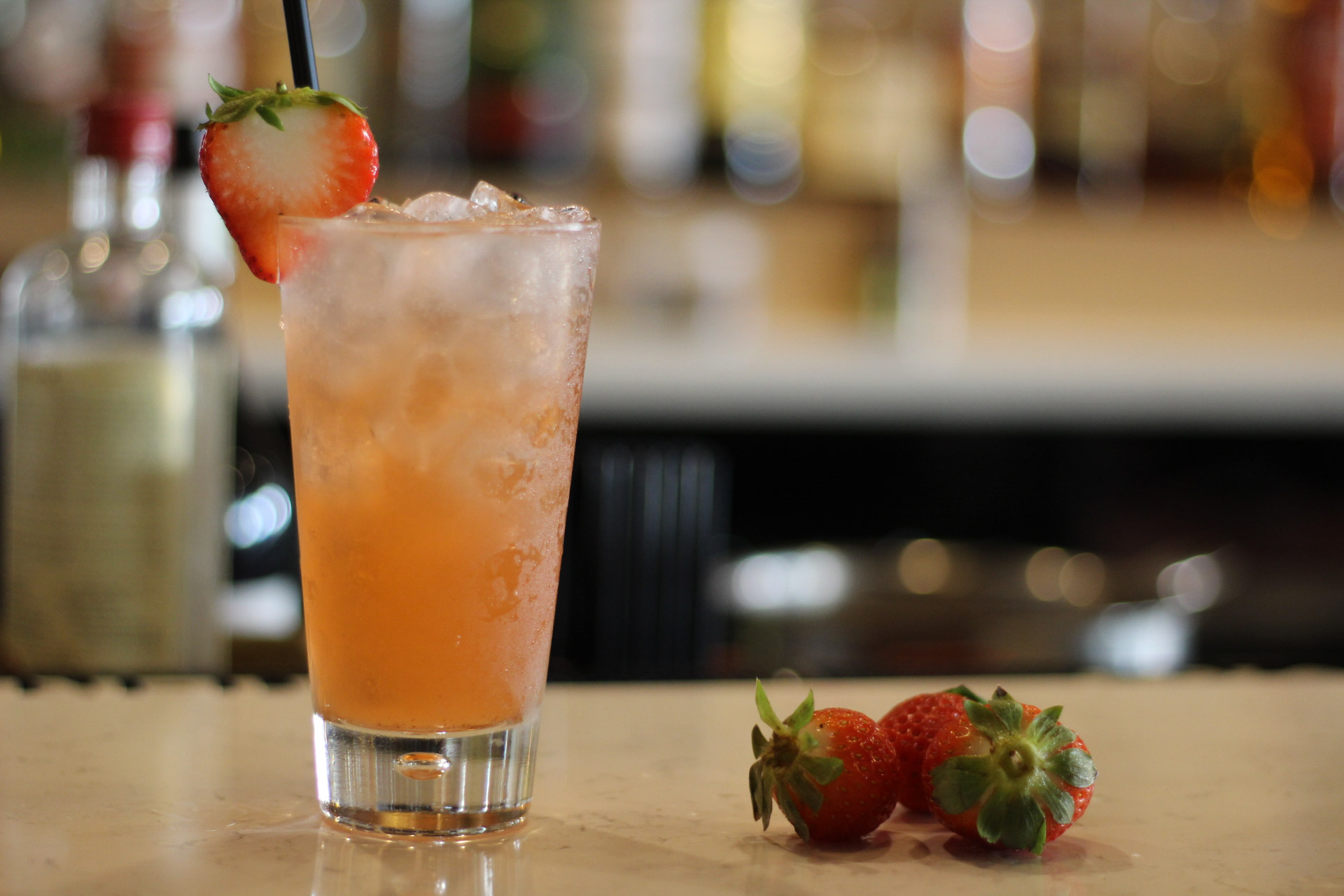 Le Jardin Strawberry Balsamic Cocktail