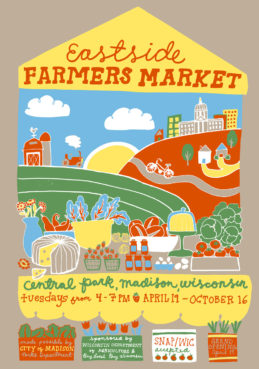 The Eastside Farmers Market poster took second place in 2016. The market is in Madison, Wis. / Courtesy of Farmers Market Coalition