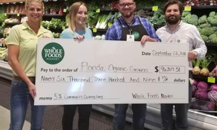 Florida Organic Growers receives almost $100,000 from Whole Foods