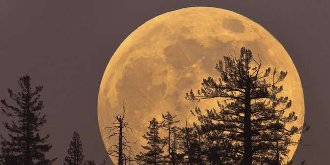 """""""A supermoon is the coincidence of a full moon or a new moon with the closest approach the Moon makes to the Earth on its elliptical orbit, resulting in the largest apparent size of the lunar disk as seen from Earth."""" (Source: Supermoon))"""