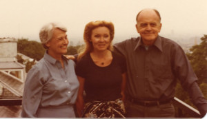 LeCoeur (center) visits with former UIW president Sterling Wheeler and his wife Dot in the late 1970s.