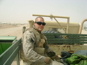 Everding served as a forward observer for an artillery unit in Iraq in 2007.