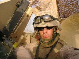 Jason Everding in Iraq in 2007