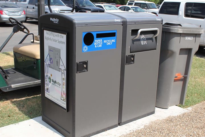 Innovative BigBelly Solar recycling station installed at UIW