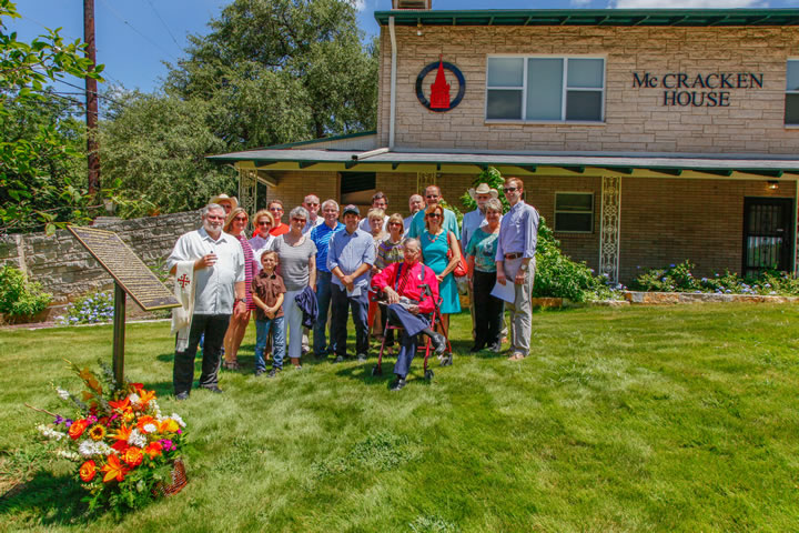Collins-Reininger family tree dedicated at McCracken House