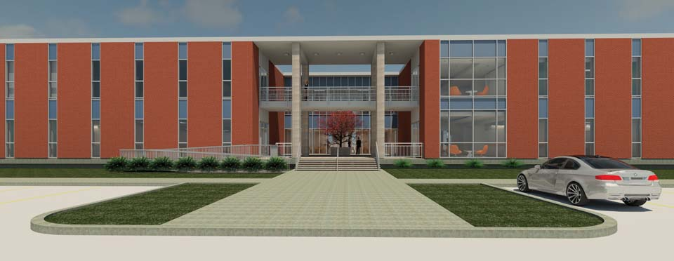 Rendering of the new UIW School of Osteopathic Medicine.