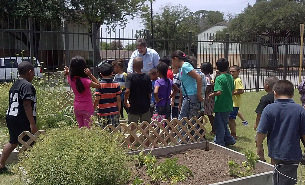 Little sprouts learn gardening basics.