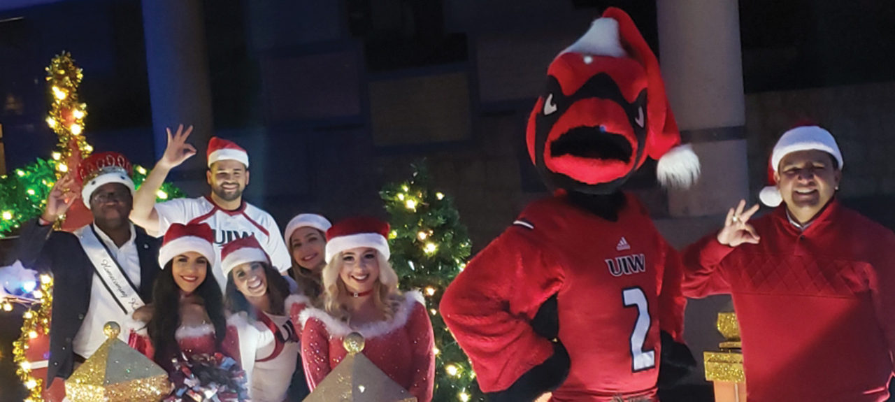Cardinal Pride and Christmas Spirit on the River