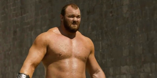 Hafthor Julius Bjornsson som Gregor 'the Mountain' Clegane i Game of Thrones sesong 4