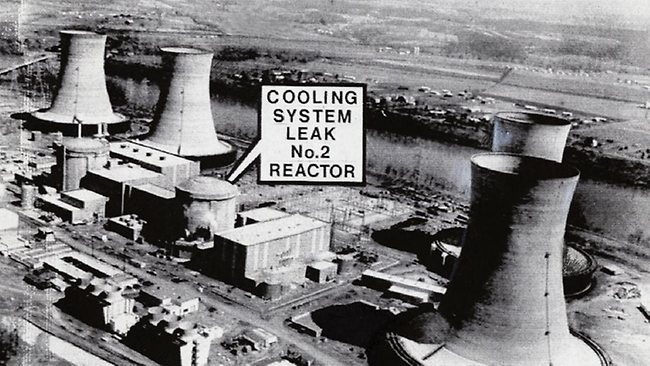 An archival photo of the 1979 nuclear disaster at Three Mile Island in the Pennsylvania.