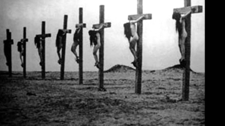 During the Armenian Genocide 16 girls were crucified alive in Malatia with spikes through their feet and hands.