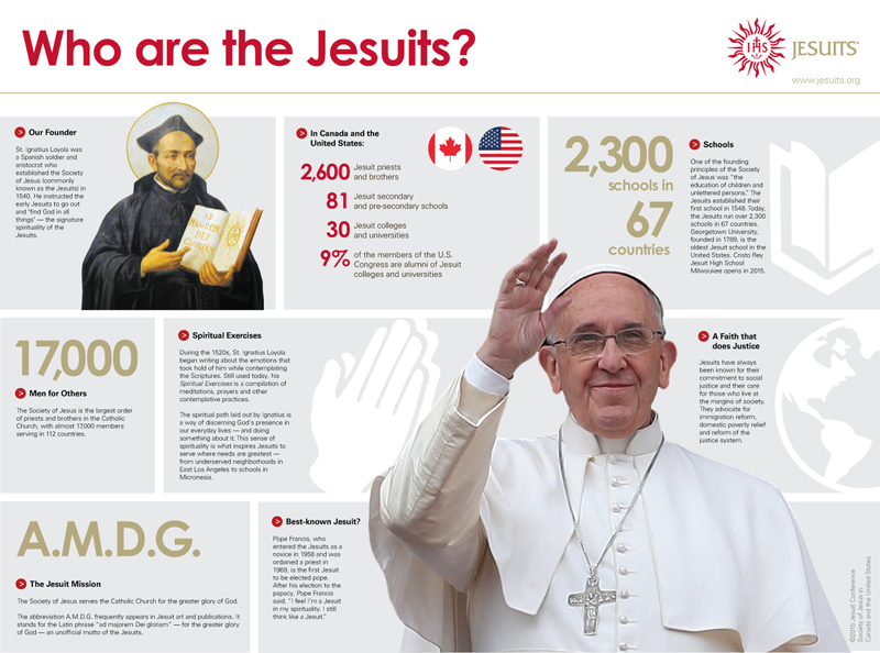 """Who are the Jesuits?"" graphic courtesy of Jesuit Conference"