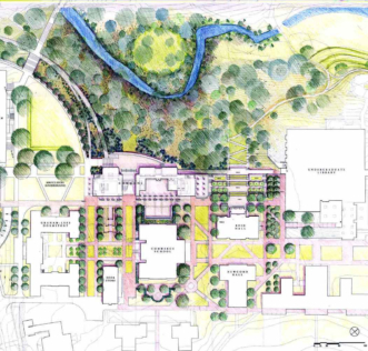 Washington and Lee University, Elrod Commons Site Plan
