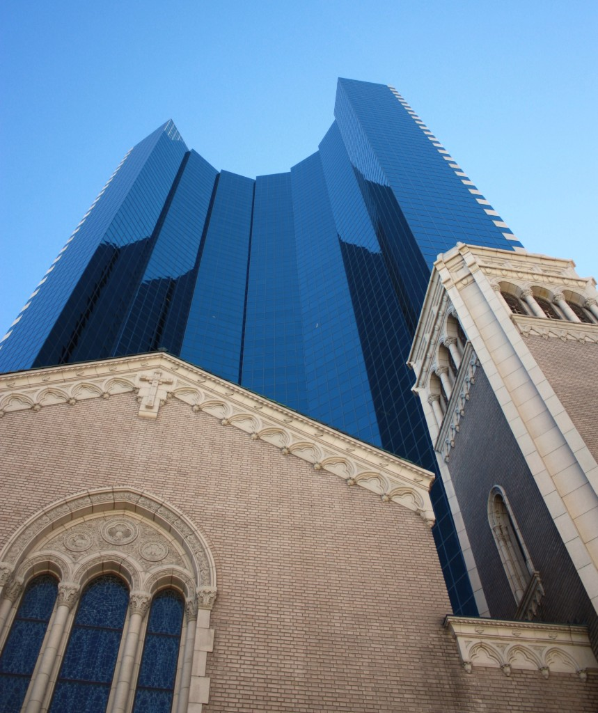 1999 Broadway and the Holy Ghost Church. Denver Urban Review Feb. 2015