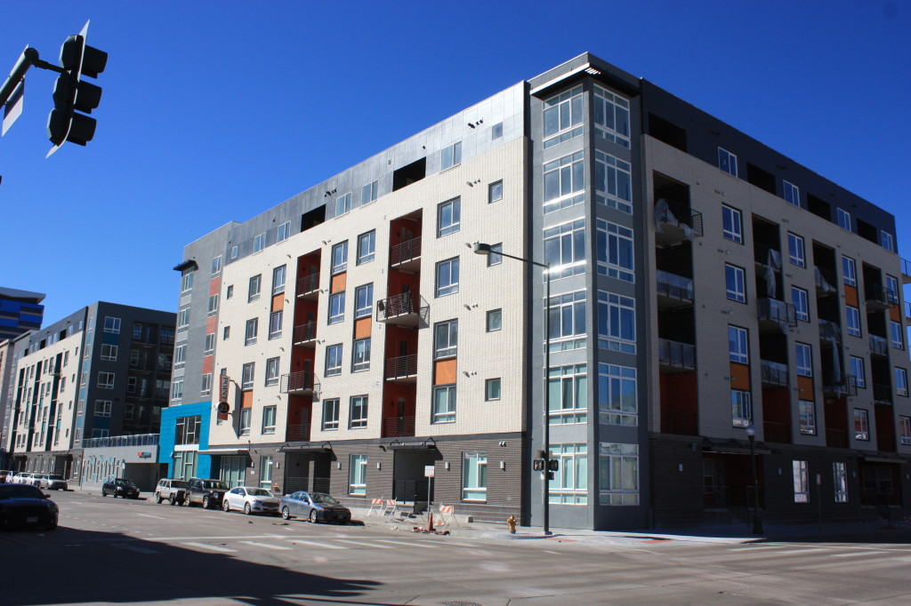 The Point 21 apartments located at 21st and Lawrence near completion.