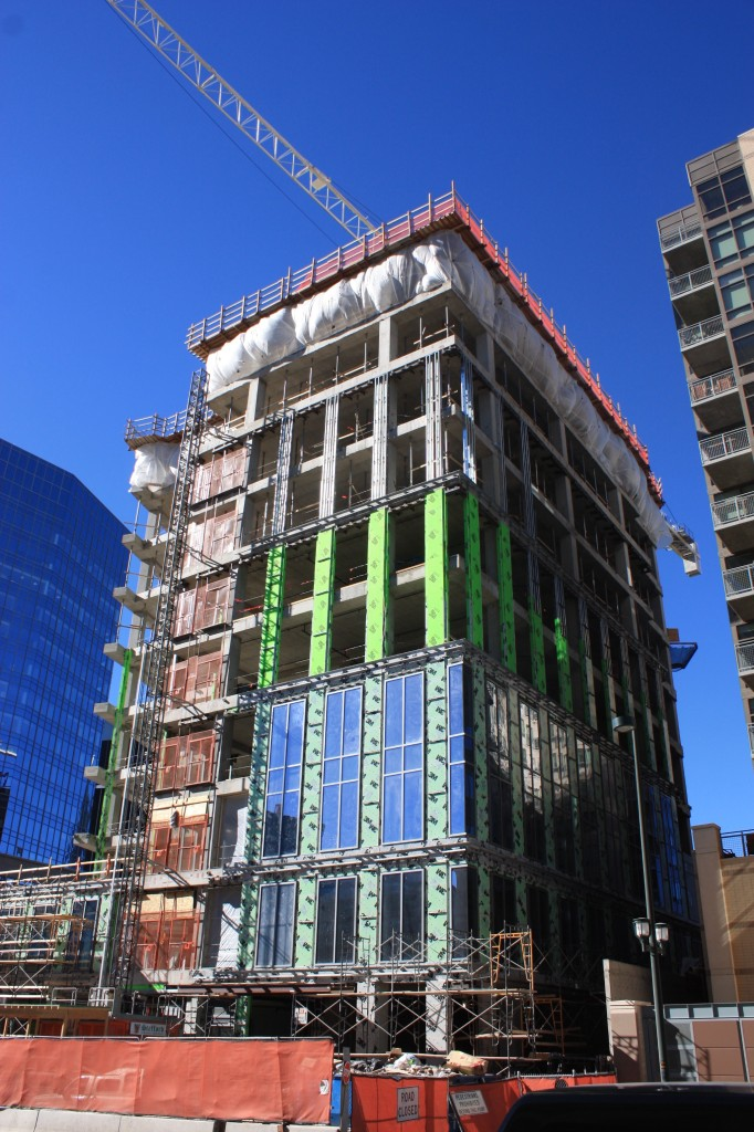 !601 Wewatta has now topped off at 10 stories. Denver Urban Review Feb. 2015