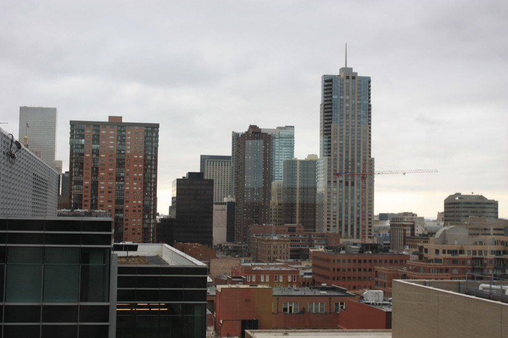 View looking south from the 10th floor of the Triangle Building.
