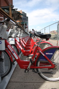 B-Cycle station next to REI near 15th Street and Platte.