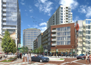 Rendering of new development at Colorado Center courtesy Tryba Architects