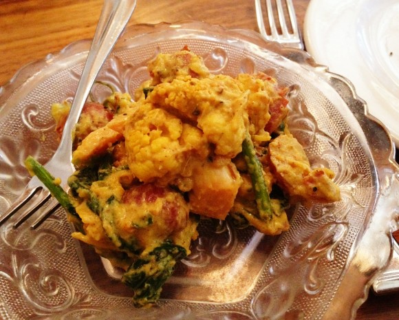 curried cauliflower and potato at bar tartine