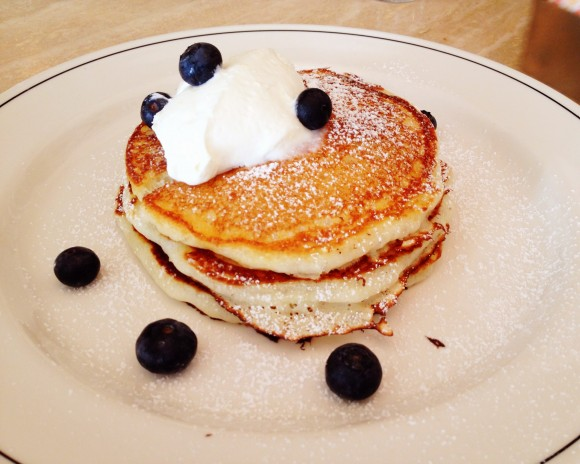 the butterfly - blueberry pancakes
