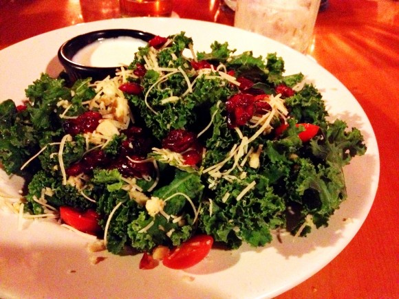 kona brewing - kale salad
