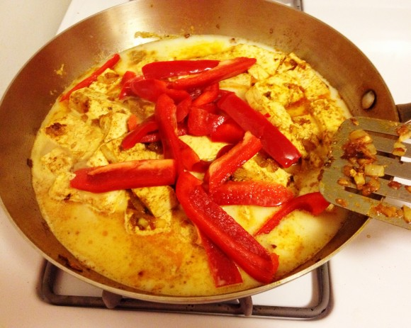 curry tofu - step 6