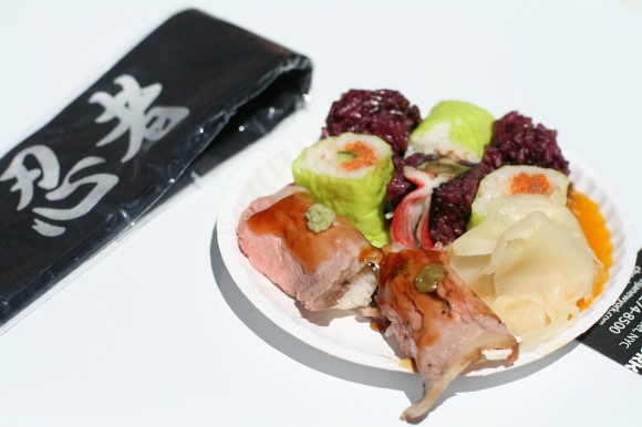 taste of tribeca - ninja roast beef california and spicy tuna sushi