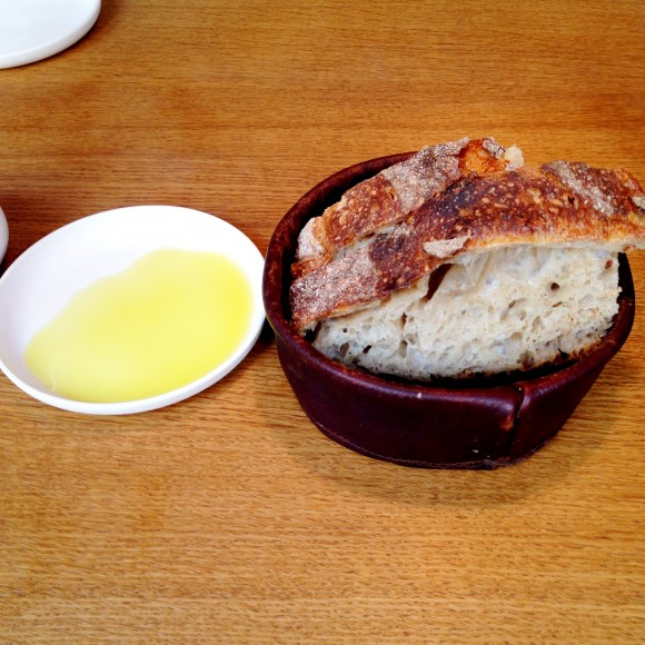 sourdough bread and sicilian olive oil