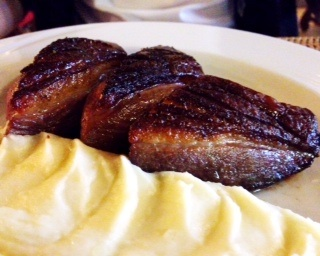 roast duck breast with aligot