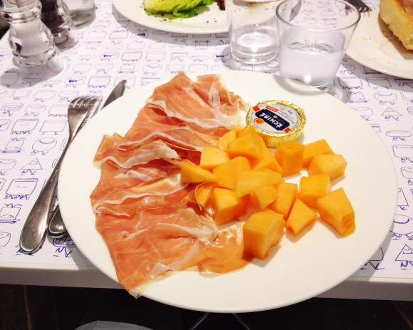melon and jambon at le water bar