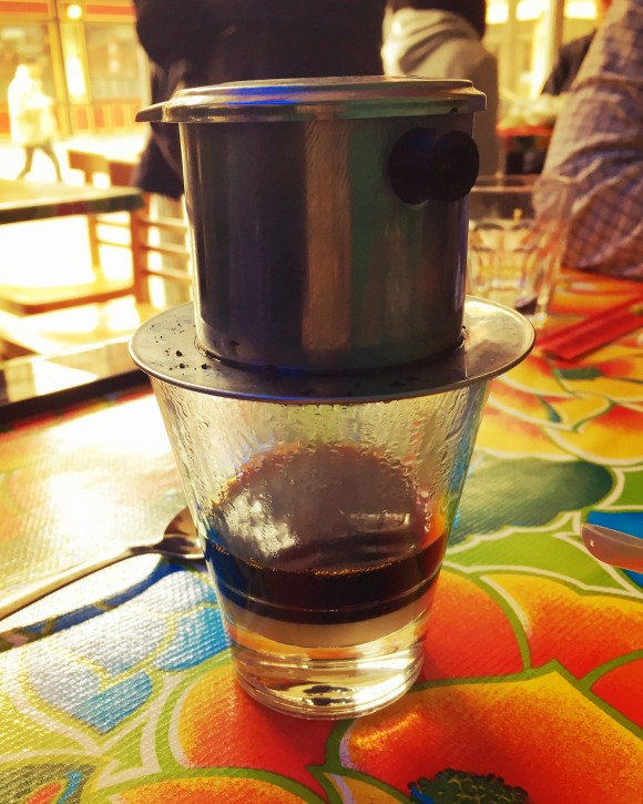 a very strong cup of vietnamese coffee