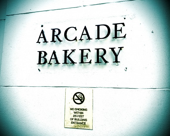 arcade bakery - sign