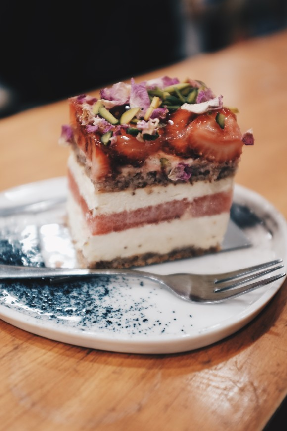 the strawberry and watermelon cake at black star