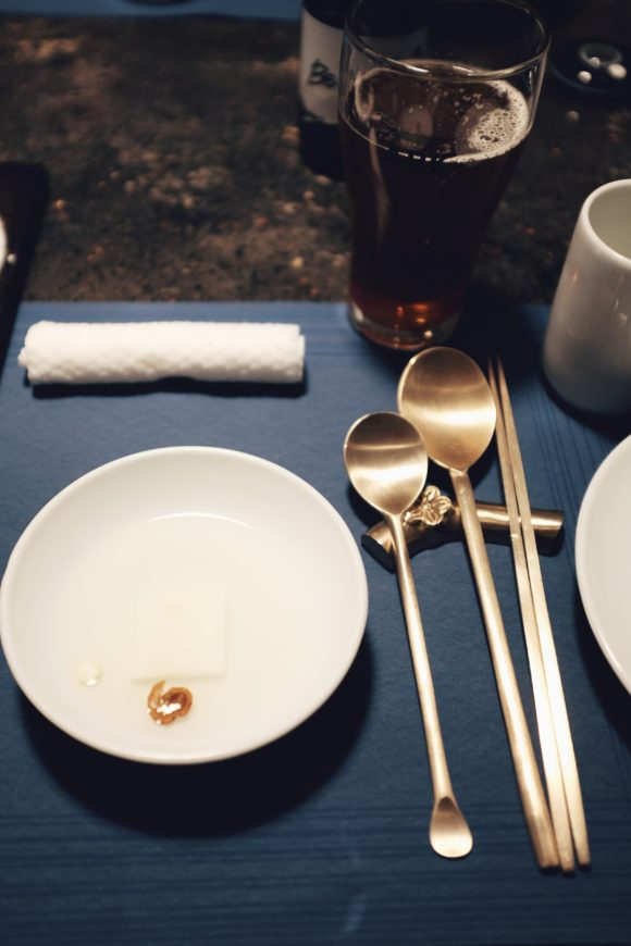 loved the blue and gold place settings