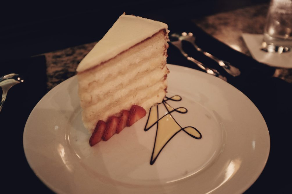 a slice of the famous coconut cake