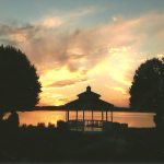 Lakeside Gazebo at Dusk