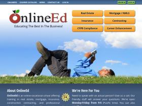 ONline ED real estate education homepage still