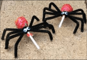 spooky-spider-lollipops