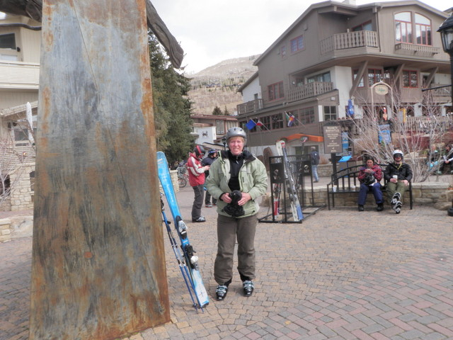 Jane at Start of Day in Vail Village