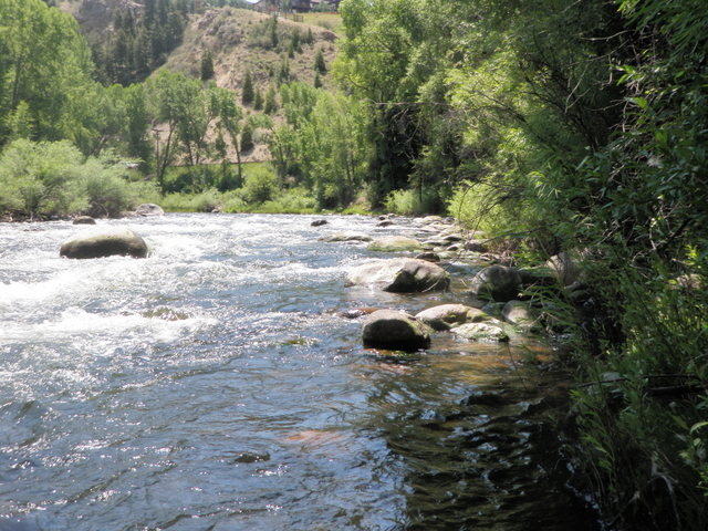 Pockets Along Bank of Eagle River Covered on Wednesday