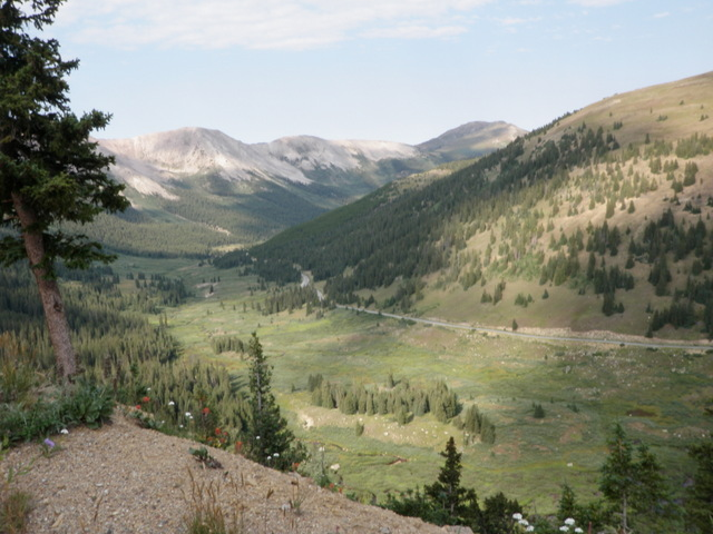 West Side of Independence Pass on Thursday Morning