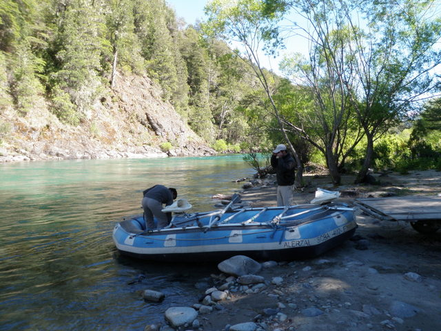 Moncho and Diego Prepare the Raft for Another Day of Fishing
