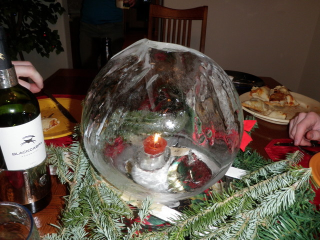 Ice Globe Now on Dining Room Table